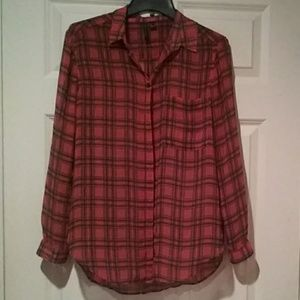 Tops - Shear Plaid Shirt